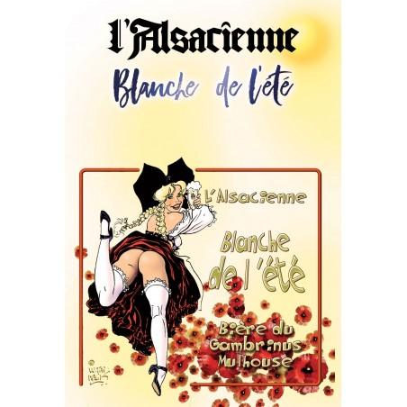 AFFICHE BLANCHE DE L'ETE