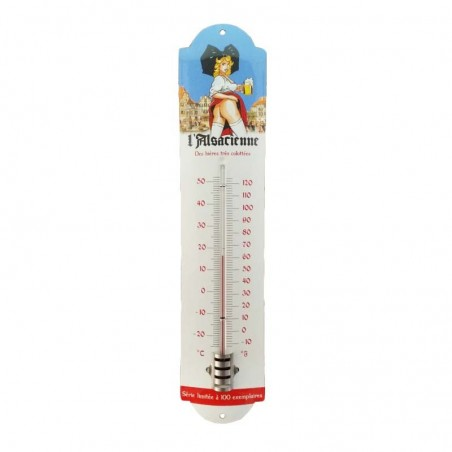 Thermomètre émaillé Alsacienne