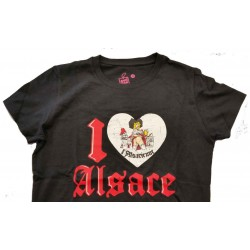 "T-SHIRT LADY  ""I LOVE ALSACE"""