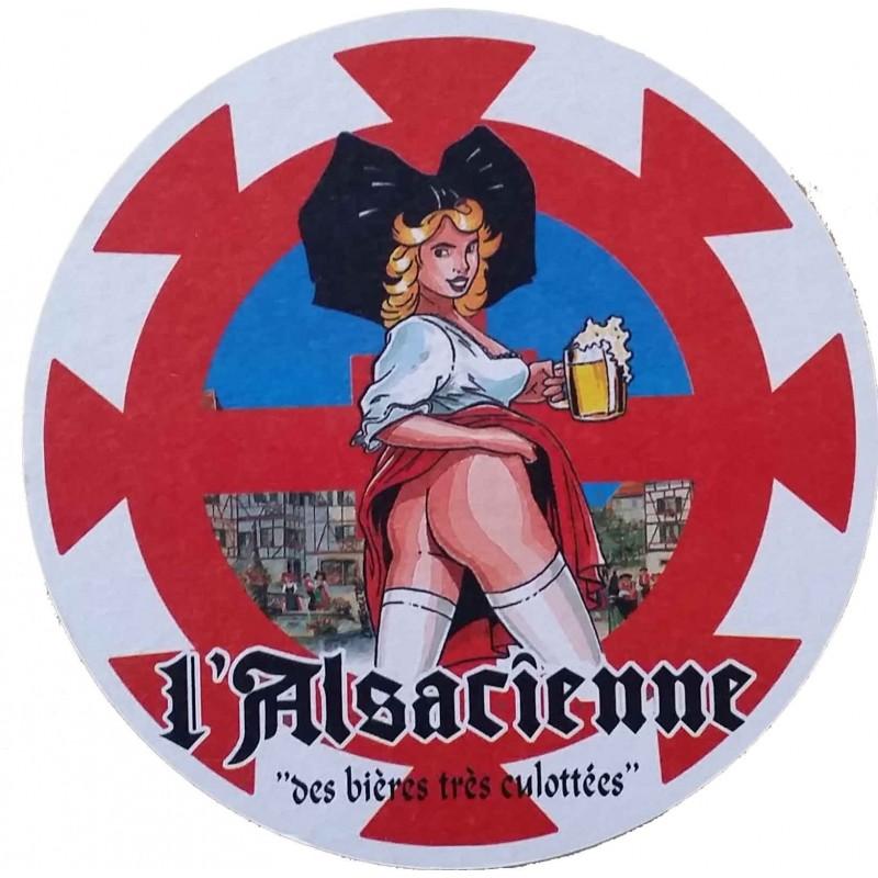 SOUS BOCK ROND L'ALSACIENNE